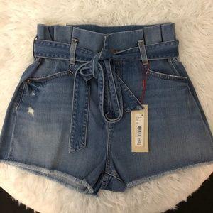 Alice + Olivia Jeans Paper Bag Short.  Siz…